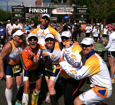 Team SunRype at the Cherry Creek Sneak Finish Line