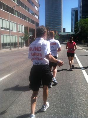 Blind Runner in Marathon