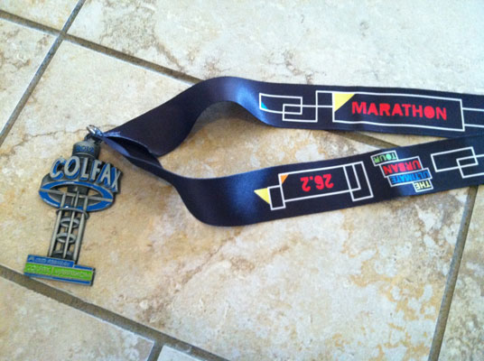 2012 Colfax Marathon Finisher Medal