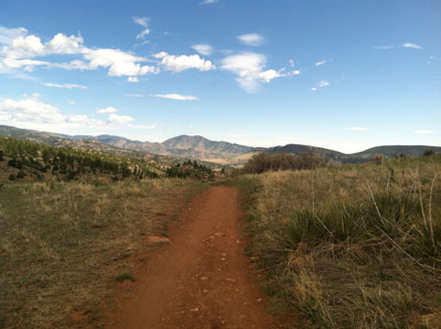 Wide open trail runs