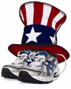 4th of July Running Image