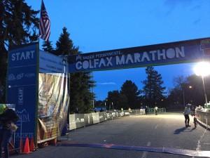 Colfax Marathon Starting Line