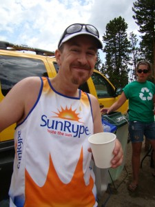 Mile 34 aid station happiness Silver Rush