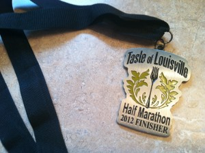 2012 Taste of Louisville Half Marathon Medal