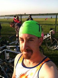 Swim Cap Wave at Denver Triathlon