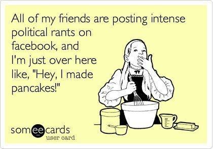 Political posts on Facebook