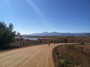 Boulder Reservoir in the distance