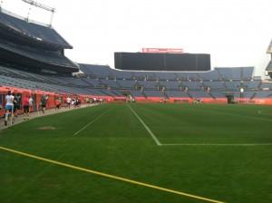Inside Mile High Stadium
