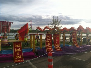 Dragon Boat Festival during marathon