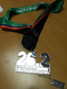 2013 Colfax Marathon Medal