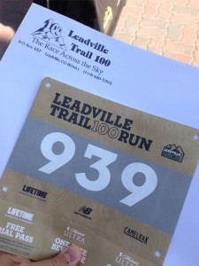 Leadville 100 Race Bib