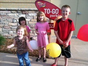Kids at Red Robin celebrating