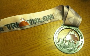 Denver Triathlon Finisher Medal