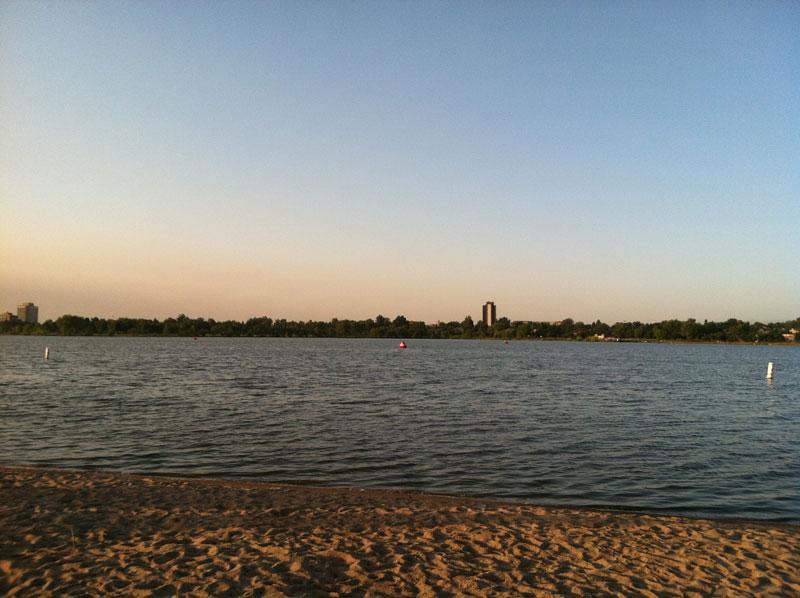Denver Triathlon Swim Start Sloans Lake