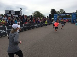 Denver Half Marathon Finish